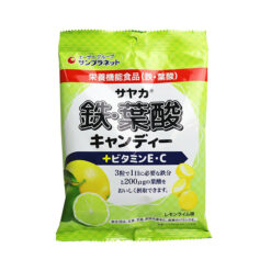 사야카 철 엽산 캔디 레몬라임맛 65g