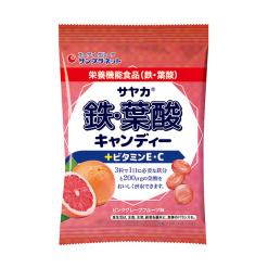 사야카 철 엽산 캔디 핑크자몽맛 65g