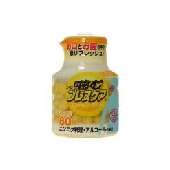 씹는 브레스케어 병 레몬 80알