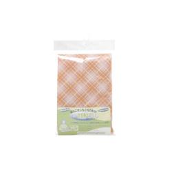 건강한 라이프 식사용 앞치마 체크 무늬 오렌지 1매