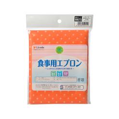 베일 식사 앞치마 물방울 무늬 오렌지 1 개 1