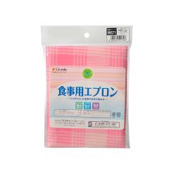베일 식사 앞치마 체크 무늬 핑크 1 장