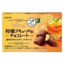 롯데 몽글몽글 감귤 리큐어초콜릿 귤자몽 10알입