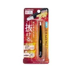 일본 그린벨 족집게 눈썹 솜털 정리 제모 트위저 둥근 타입블랙