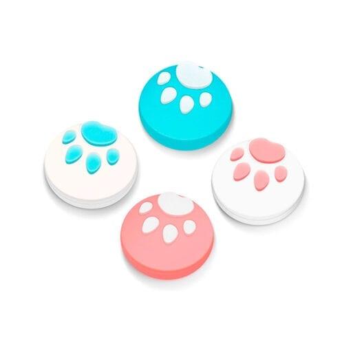 닌텐도 스위치 조이콘 아날로그 스틱 커버 swich joy con switch lite용 고양이발바닥 4개 세트핑크블루
