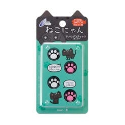 닌텐도 스위치 조이콘 아날로그 스틱 커버 swich pro 컨트롤러용 cyber 아날로그 고양이 발바닥 4개 세트검은색