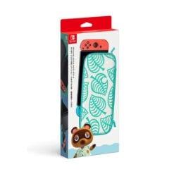 닌텐도 스위치 커버 및 케이스 스위치 동물의숲 에디션 너구리 알로하무늬 케이스화면보호 시트포함