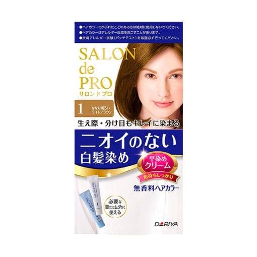 다리야 일본 살롱드프로 염색크림백발용 염색 크림 1매우 밝은 라이트 브라운