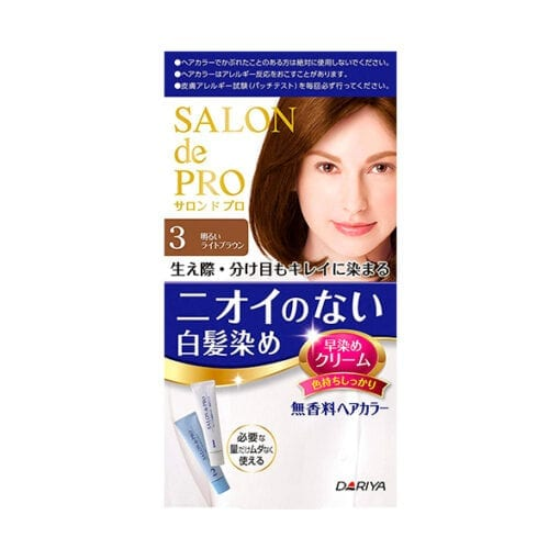 다리야 일본 살롱드프로 염색크림백발용 염색 크림 3밝은 갈색