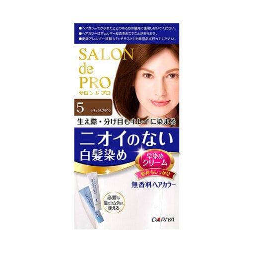 다리야 일본 살롱드프로 염색크림백발용 염색 크림 5내추럴 브라운