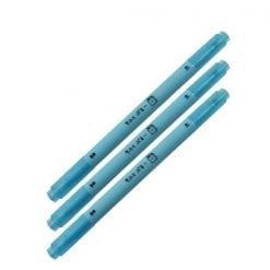 257 소프트 컬러 잉크 형광 트윈 펜 소프트 블루 3개1세트