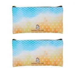 4550391531905 일본식 디자인 아름다움보다 플랫 펜 파우치 수채화 야마 × 비늘 2개1세트