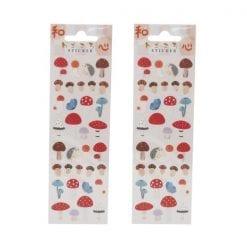 4562295519965 스티커 버섯 가을 무늬 스티커 2개1세트