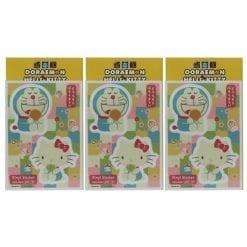 467 스티커 도라에몽 × 헬로 키티 다이 컷 비닐 스티커 일본식 디자인 02 3개1세트