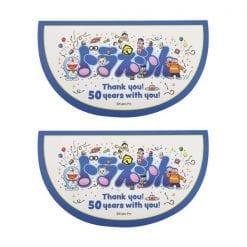 4970381464622 스티커 도라에몽 여행 스티커 50 주년 기념 친구들 2개1세트