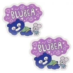 4979274217147 스티커 blubea 부루베아 다이 컷 스티커 누워 2개1세트