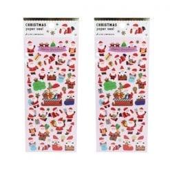 4990012435500 스티커 christmas 금박 종이 스티커 550 2개1세트