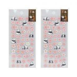 4990012861101 스티커 봄 빛깔 일본식 스티커 벚꽃 팬더 2개1세트