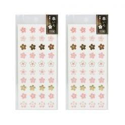 4990012861248 스티커 봄 빛깔 일본식 스티커 벚꽃 1 2개1세트