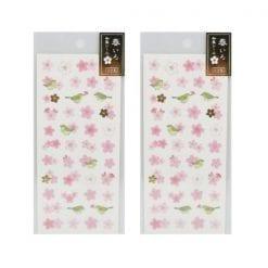 4990012861255 스티커 봄 빛깔 일본식 스티커 벚꽃과 우구 2개1세트