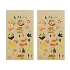 4990012861330 스티커 맛있는 스티커 데코 시루 새우 축제 2개1세트