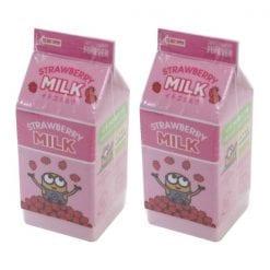 4991863499703 미니언 즈 주스 지우개 딸기 우유 2개1세트