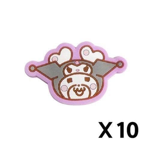 허니웍스 × 마이 멜로디 마그넷츠 곰돌이 원형 페이스 – 10개1세트